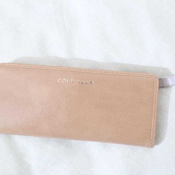 NWT Cole Haan tan long wallet